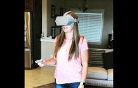 patient using go - vivid vision home vision therapy strabismus patient optometry lazy eye binocular vision virtual reality high resolution