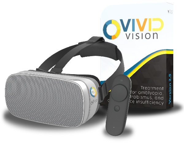 All in one bundle with Vivid Vision Home and the Pico Goblin VR head mounted display.