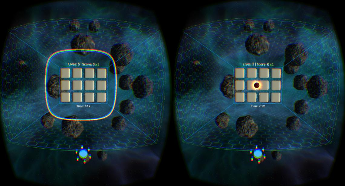 A screenshot of the Breaker game for Vivid Vision for Amblyopia.