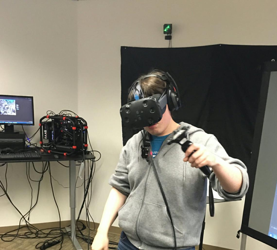 James Blaha using the HTC Vive at SVVR