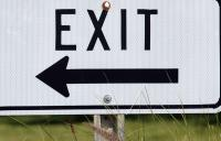 exit sign - blog high resolution